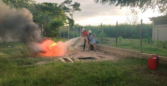 Personal del Hospital de Soledad Materno Infantil recibió inducción sobre prácticas contra incendio