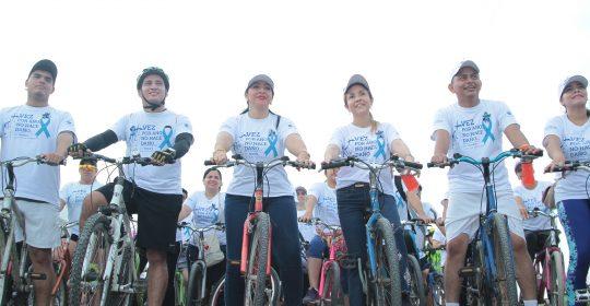 Soledeños participan masivamente en Ciclo Ruta Saludable