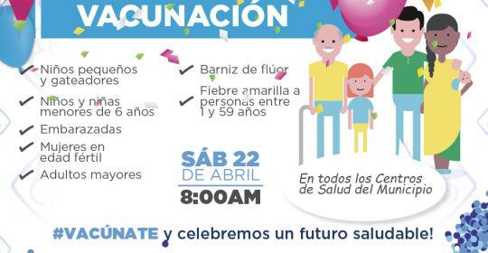 Este sábado, Vacúnate y Celebremos un Futuro Saludable en la Gran Jornada Nacional de Vacunación.