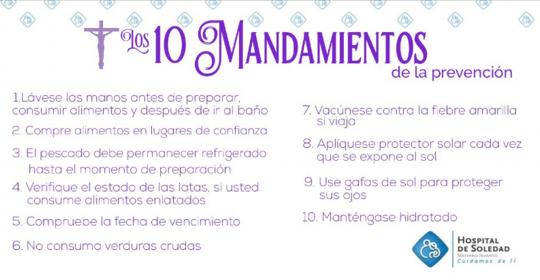 """Ten en cuenta """"Los 10 Mandamientos"""" para  vivir una 'Semana Santa Sana'"""