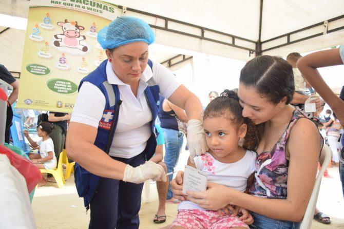 En Soledad, 3.298 personas respondieron a la Tercera Jornada Nacional de Vacunación