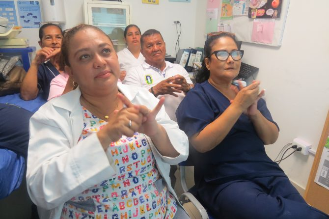 Hospital Materno socializa su protocolo de lavado de manos