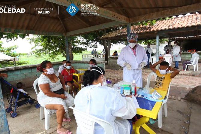 Gran campaña de visitas del hospital materno infantil de soledad a diferentes sectores de la municipalidad.