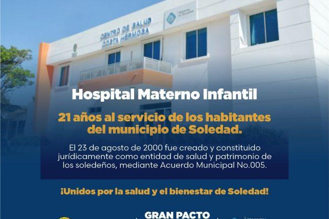 Hospital Materno Infantil cumple 21 años