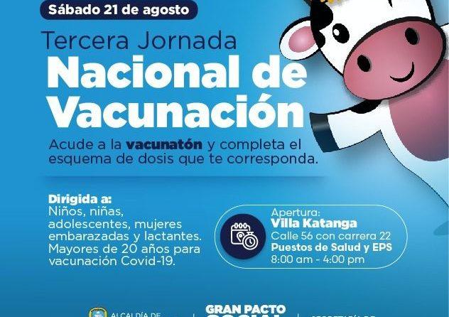 Este 21 de agosto, Soledad se vincula a Tercera Jornada Nacional de Vacunación